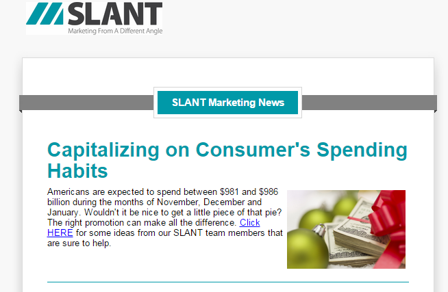 Slant December Newsletter